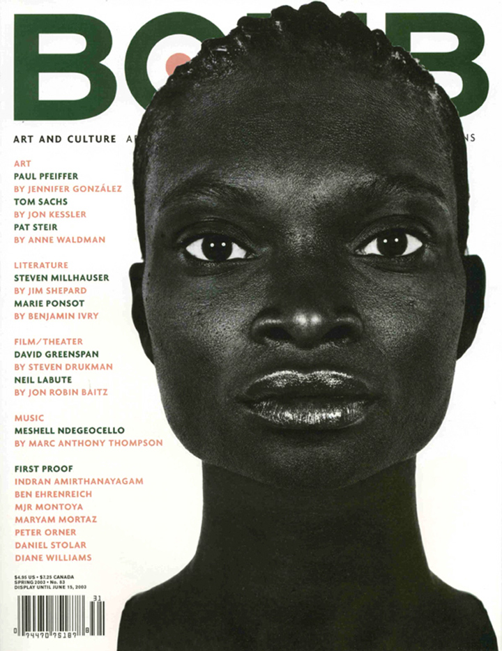 The cover of BOMB 83
