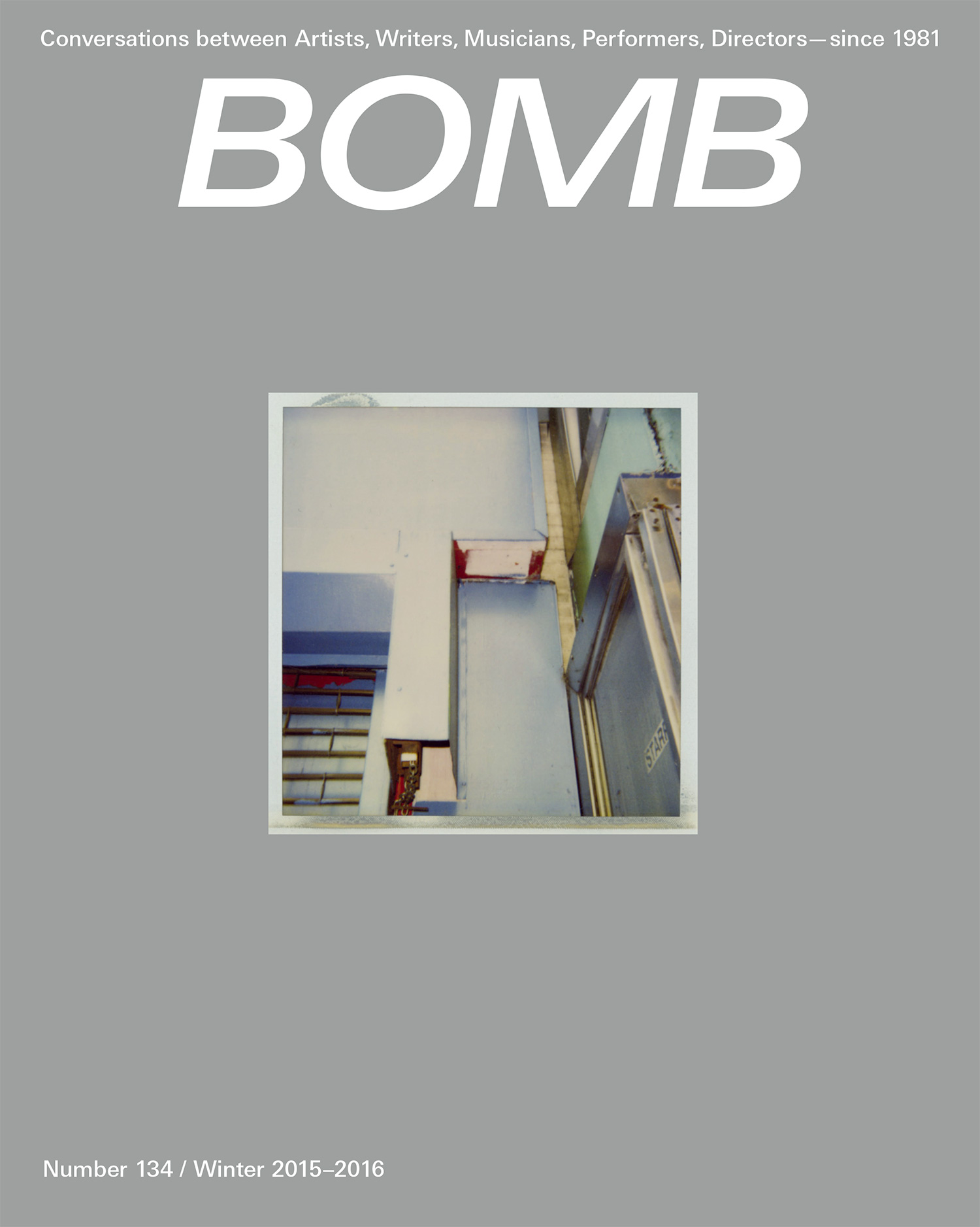 The cover of BOMB 134