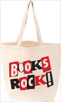 Stylish Books Rock Tote Bag
