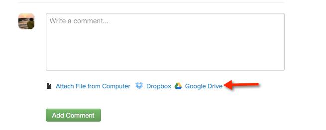 Google Drive Attachment