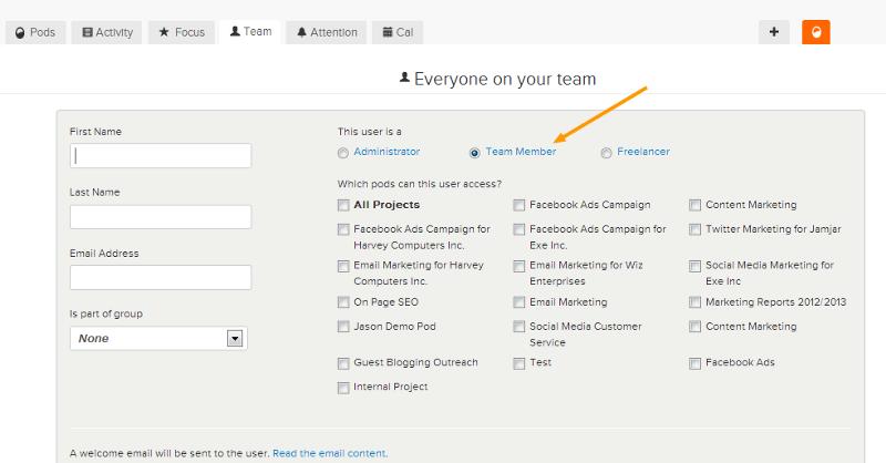 team member access