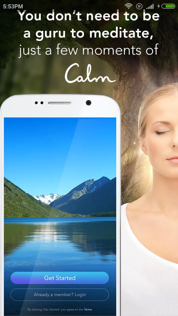 calm app to unplug and relax