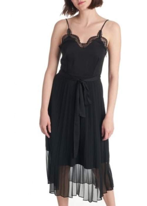 Sandro two part midi dress black sexy and temperament womensclothing csgxogwh4 2 500x505