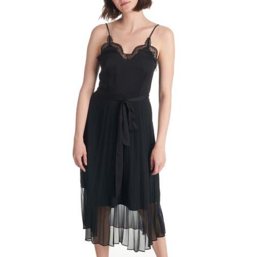 Sandro two part midi dress black sexy and temperament womensclothing csgxogwh4 2 500x505