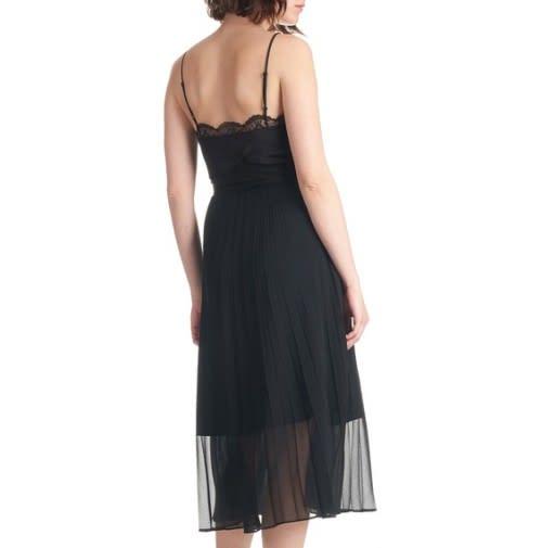 Sandro two part midi dress black sexy and temperament womensclothing csgxogwh4 3 500x505