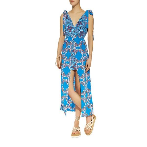 Sandro floral print midi dress blue 5998628 women summer dresses etxxkwg  12782 600x600 0