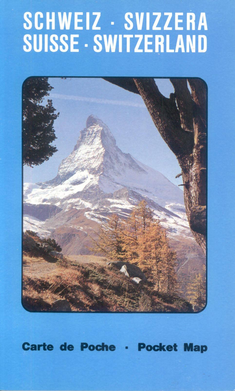 Switzerland Pocket Map 1:500,000