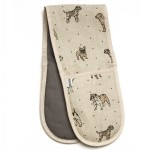 Dogs linen oven gloves, £20.80<