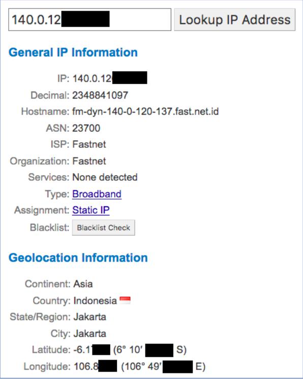 Non-Proxied IP Address