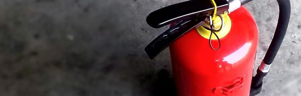 Segurança: Extintor de incêndio