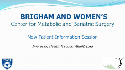 Center for Metabolic and Bariatric Surgery: New Patient Information Session