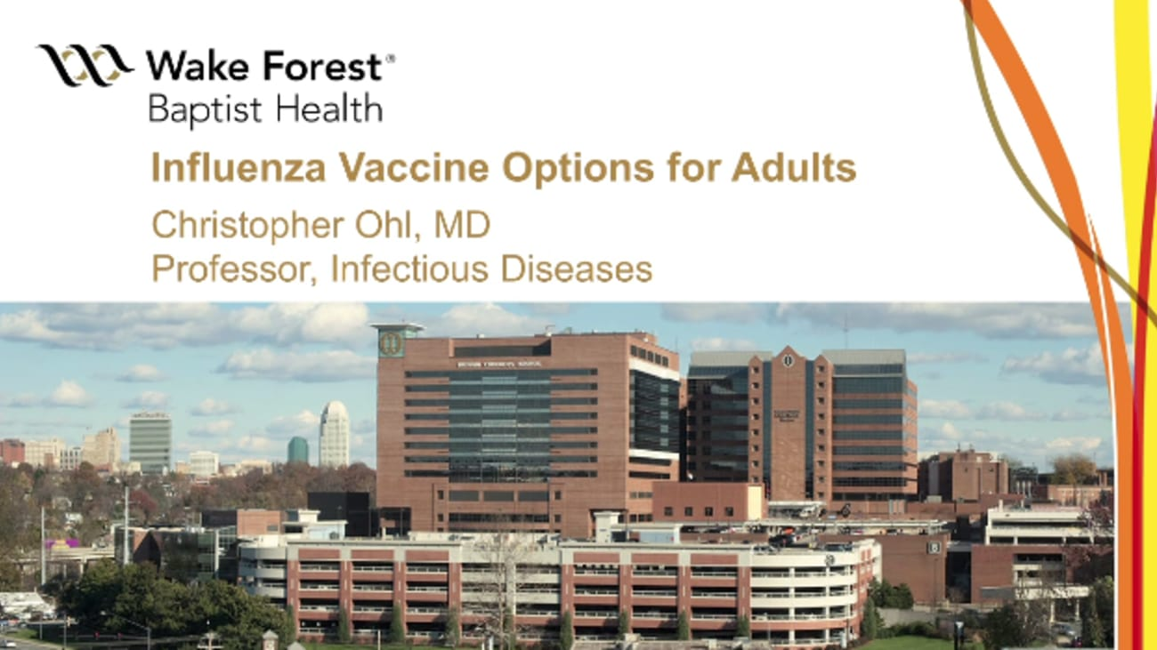 Influenza Vaccine Options for Adults