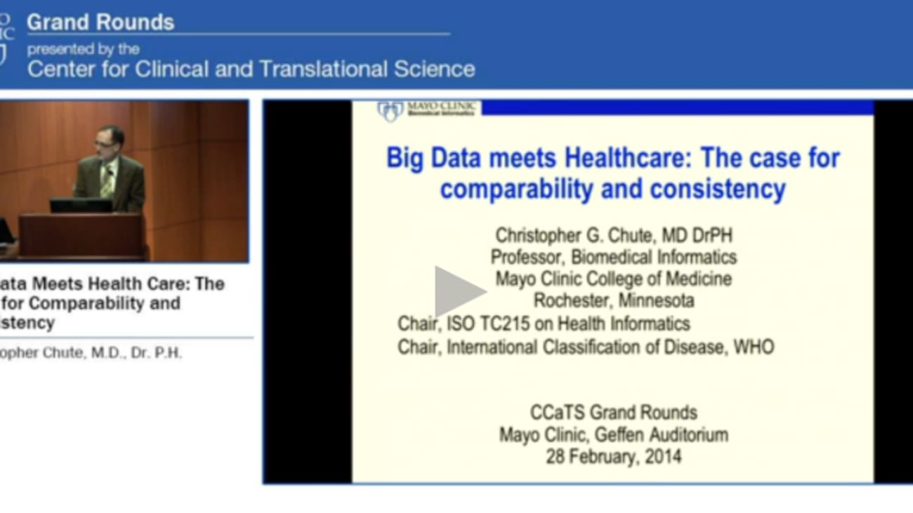 Grand Rounds: Big Data Meets Health Care: The Case for Comparability and Consistency