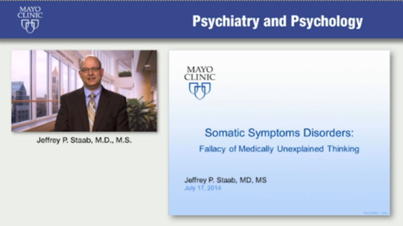 Learning Disorders Know The Signs How To Help Mayo Clinic >> Somatic Symptom Disorders Part 3 Fallacy Of Medically Unexplained