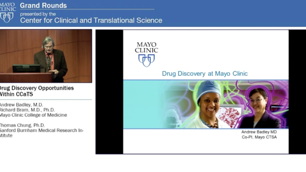 Grand Rounds: Drug Discovery Opportunities Within the Center for Clinical and Translational Science