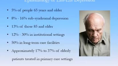 Depression in the Elderly - William McCann, PsyD