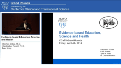 Grand Rounds: Evidence-Based Education, Science and Health