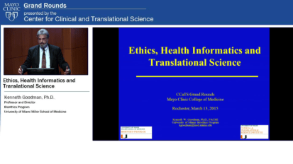 Grand Rounds: Ethics, Health Informatics and Translational Science