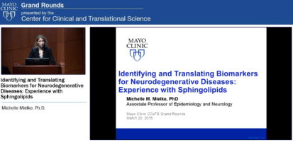Grand Rounds: Identifying and Translating Biomarkers for Neurodegenerative Diseases: Experience with Sphingolipids