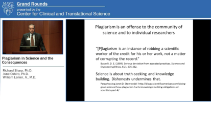 Grand Rounds: Plagiarism in Science and the Consequences