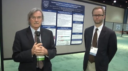 Drs. Windebank and Staff present their poster at the World Stem Cell Summit