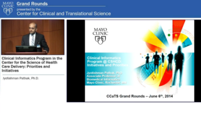 Grand Rounds: Clinical Informatics Program in the Center for the Science of Health Care Delivery: Priorities and Initiatives