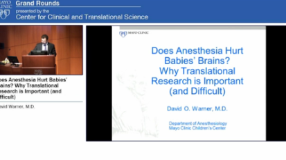 Does Anesthesia Hurt Babies' Brains? Why Translational Research is Important (and Difficult)