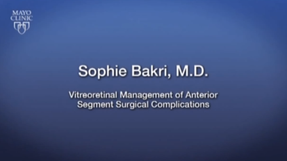 Mayo Clinic Ophthalmology Retina Update and Case Conference: Vitreoretinal