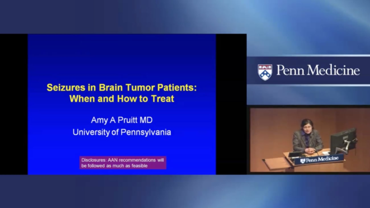 Seizures in Brain Tumor Patients: When and How to Treat