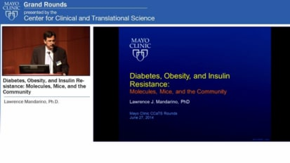 Grand Rounds: Diabetes, Obesity, and Insulin Resistance: Molecules, Mice, and the Community
