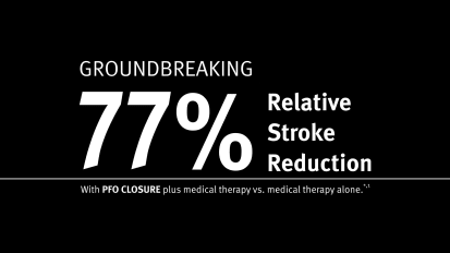 PFO-stroke randomized controlled trial efficacy and safety data