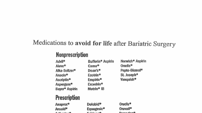 Medications to Avoid After Sugery