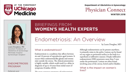 Physician Connect Newsletter on Endometriosis – Winter 2018