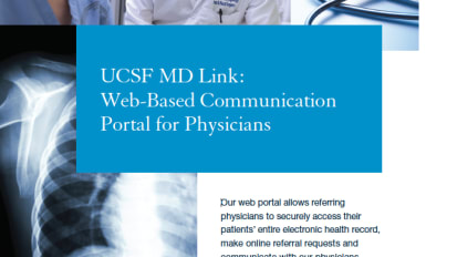 UCSF MD Link: Web-Based Communication Portal for Physicians