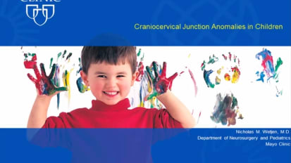 Craniocervical Junction Anomalies in Children