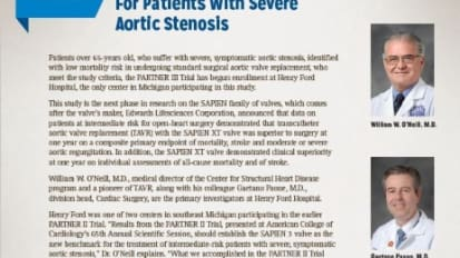 PARTNER III Trial Begins For Patients With Severe Aortic Stenosis