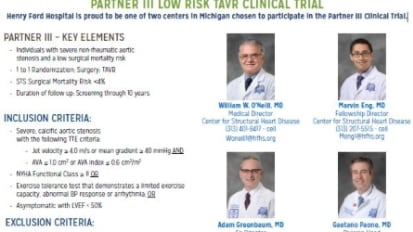 PARTNER III LOW RISK TAVR CLINICAL TRIAL