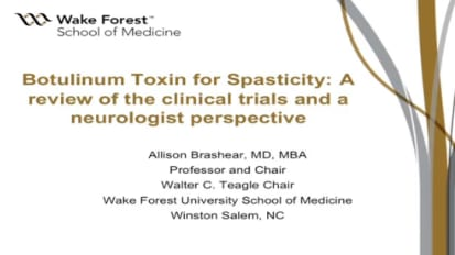 Botulinum Toxin for Spasticity: A Review of the Clinical Trials & A Neurologist Perspective