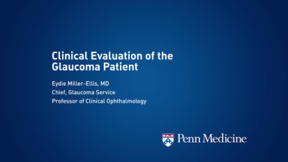 Clinical Evaluation of the Glaucoma Patient