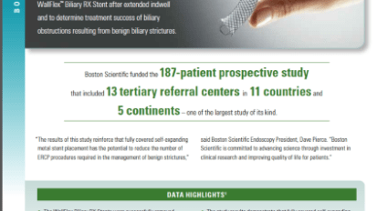 Prospective Multinational Study Published on Management of Benign Biliary Strictures