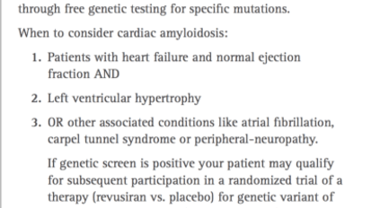 Cardiac Amyloidosis Study
