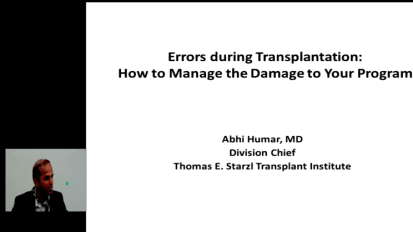 Errors During Transplantation: How to Manage the Damage to Your Program