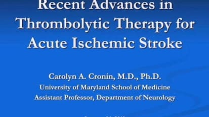 Recent Advances in Thrombolytic Therapy for Acute Ischemic Stroke