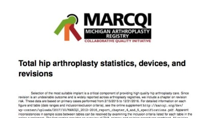 Total hip arthroplasty statistics, devices, and revisions