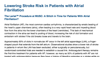Lowering Stroke Risk in Patients with Atrial Fibrillation