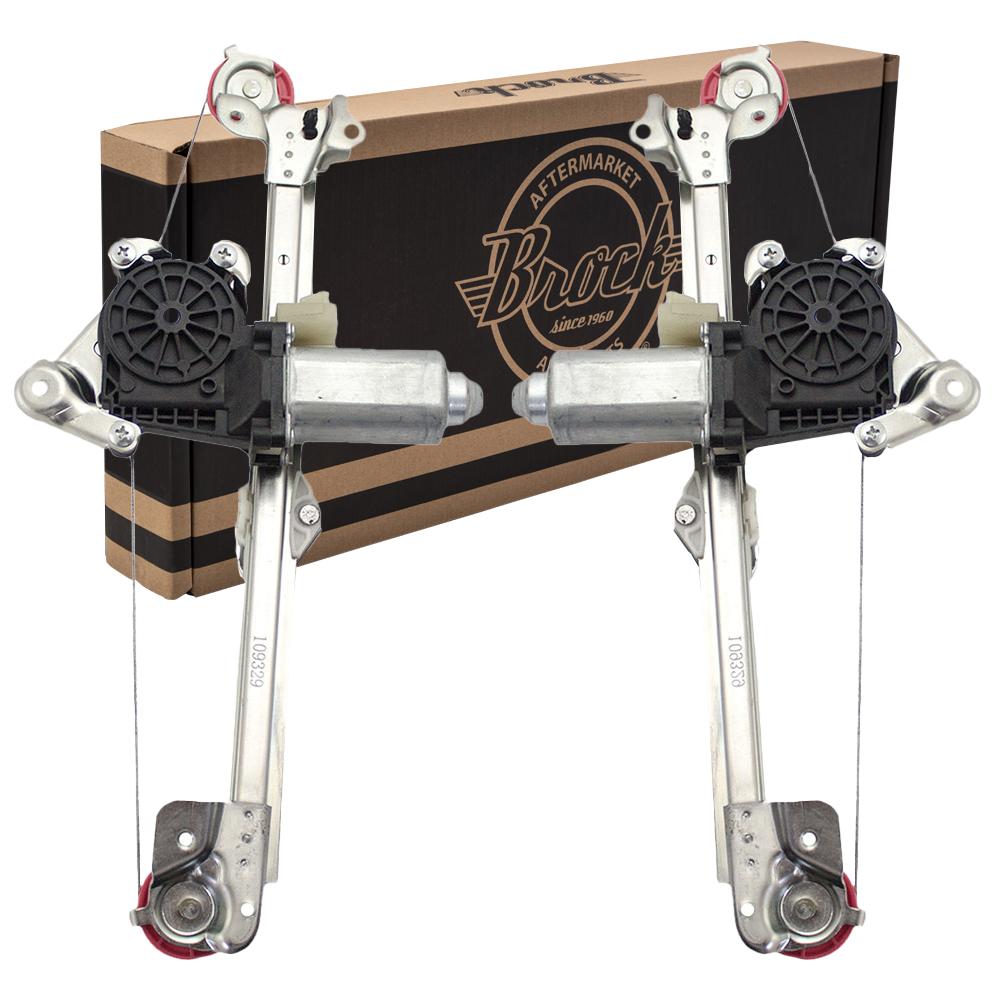 cutlass malibu  u0026 classic set of rear power window lift regulators with motors