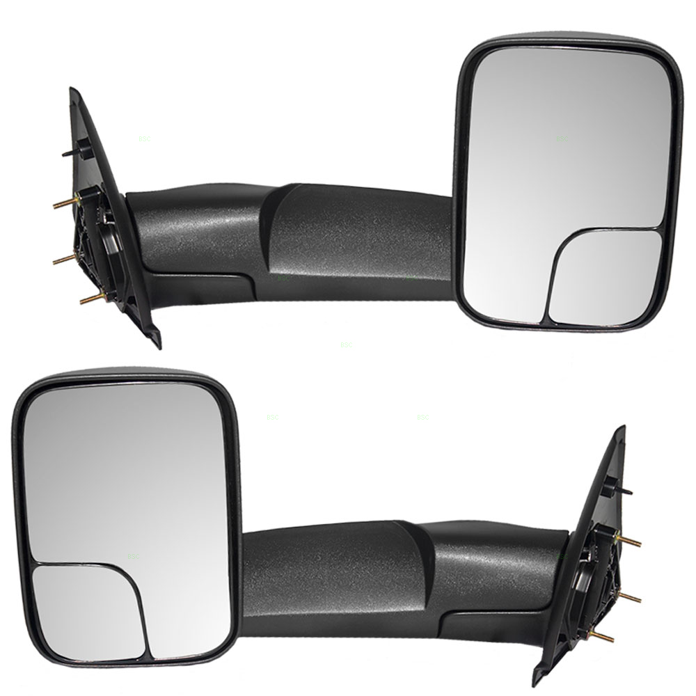 Vehicle Towing Mirrors : Autoandart dodge pickup truck new pair set