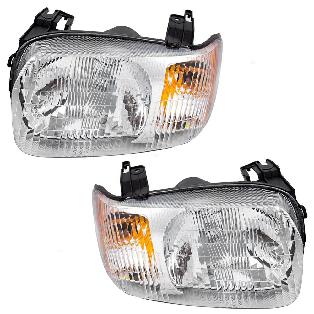 01 02 03 04 Ford Escape Set Of CAPA-Certified Headlights