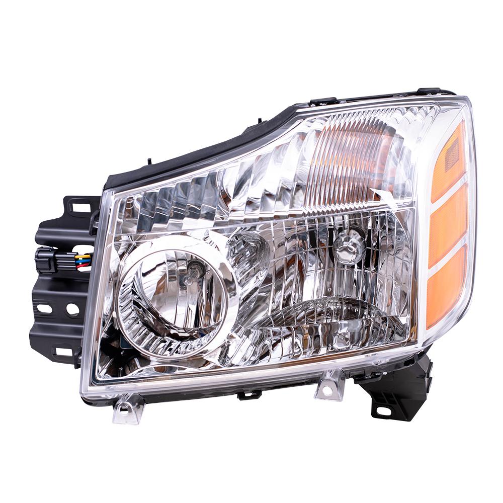 Nissan Headlamp Assembly : Autoandart nissan armada titan pickup truck