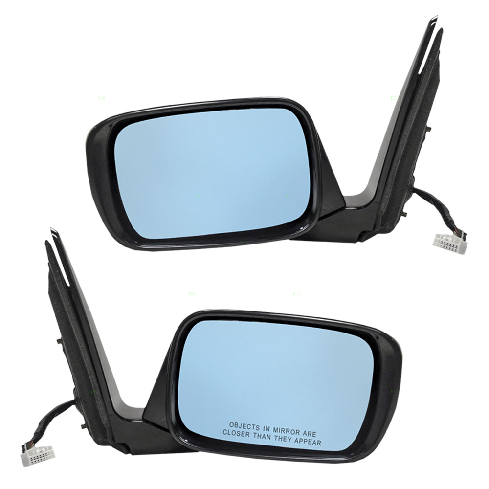 10-13 Acura MDX Set Of Side View Power Smooth Mirrors